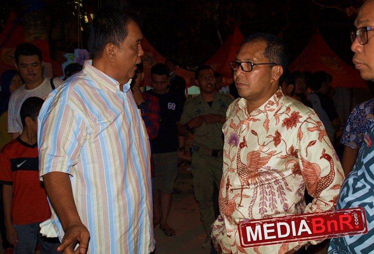 Rocky Madjid (kiri) Tokoh di Balik Kesuksesan Pameran Burung Berkicau di F8 Makassar