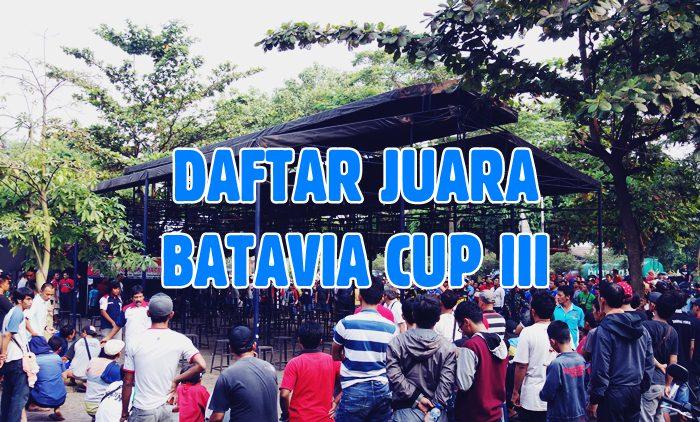 Daftar Juara Batavia Cup III – 2017