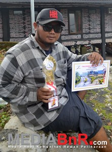 Saktya Nurhakim puas meski Dayang Sumbi mundur ke nomor 3 (Foto: Saeful/MediaBnR.Com)