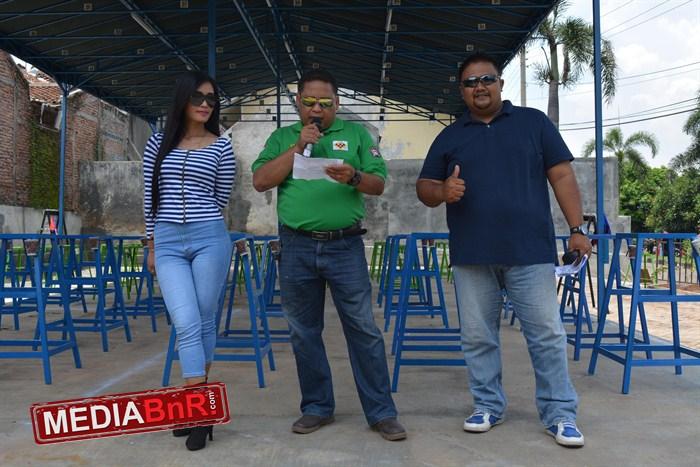 Sambutan Mr. Zaenuri selaku Ketua Panitia didampingi duet MC Miss Mawar & Bang Basir
