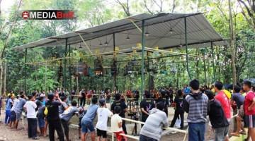 Suasana Lomba di  Taman Kroyo Mojo Rindang dan Sejuk