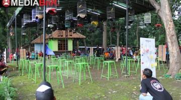 Suasana meriah di arena gantang BnR Permata BC Semarang