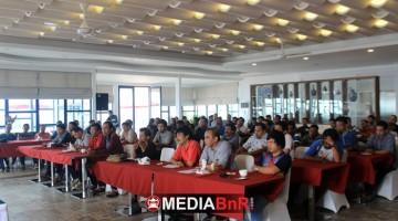 Suasana sarasehan halal bihalal JBI di Beth Kesegaran Theresia 2017