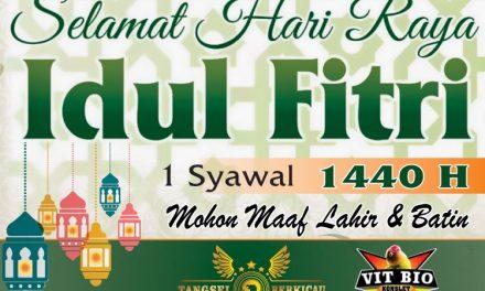 Tangsel Berkicau : Selamat Hari Raya Idul Fitri 1440 H, Mohon Maaf Lahir dan Bathin