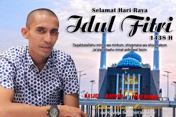 Ucapan Selamat Hari raya Idulfitri Sultan Arif