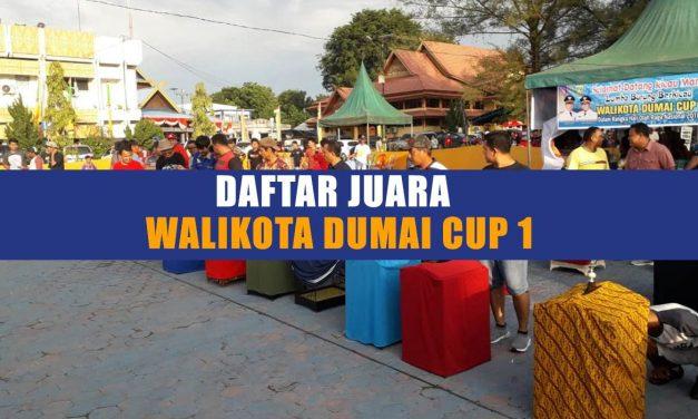 Daftar Juara WALIKOTA DUMAI CUP 1 (9/9/2018)