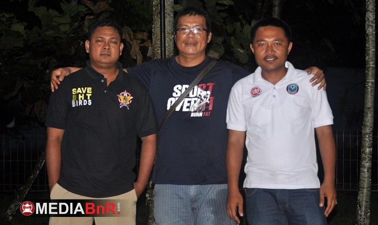 Yan Rangkas Bersama Pay (kiri) dan Bhie PB (kanan) Selaku Ketua Panpel BnR RKB