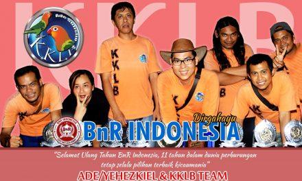 ADE/YEHEZKIEL KKLB : Selamat Ulang Tahun BnR Indonesia Ke-11