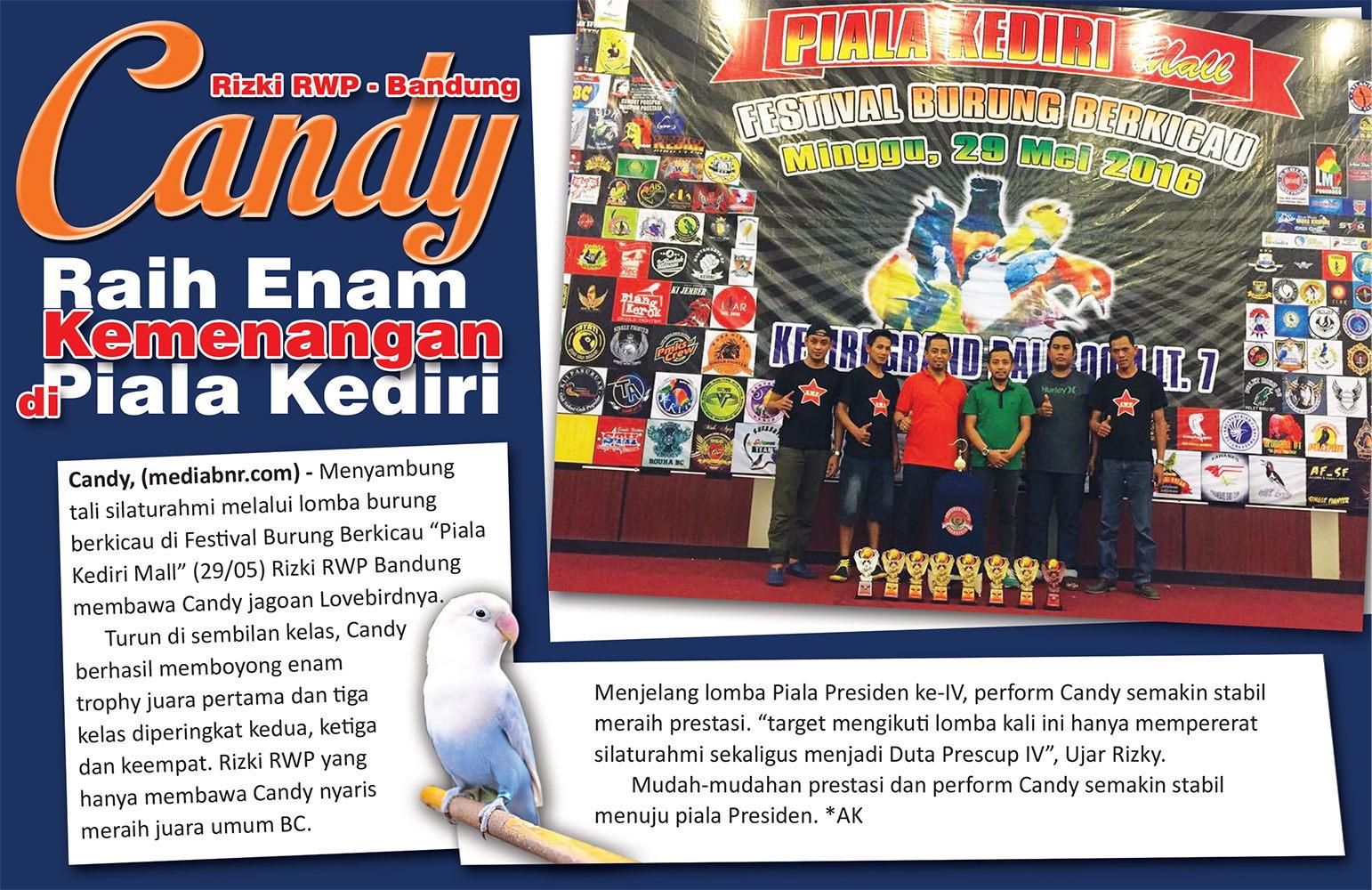 Rizky RWP Bandung : Candy Raih Enam Kemenangan di Piala Kediri