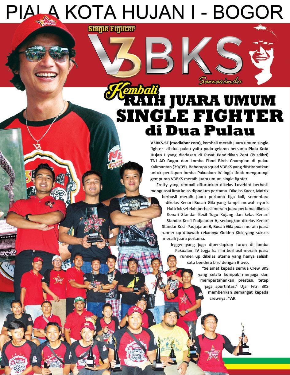 V3 BKS Samarinda : Kembali Raih Juara Umum Single Figther di Dua Pulau