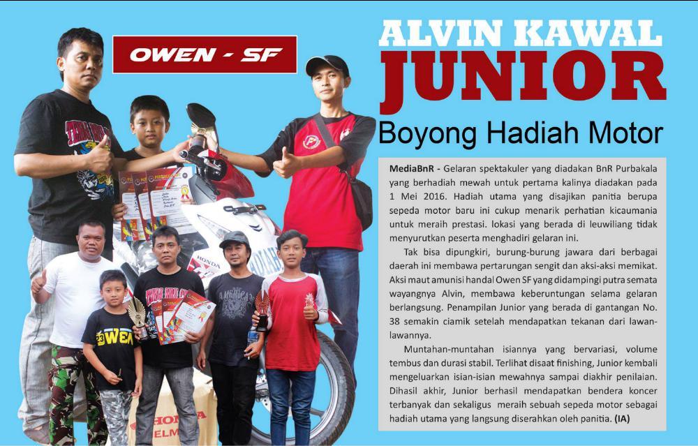Alvin Kawal Junior : Boyong Hadiah Motor