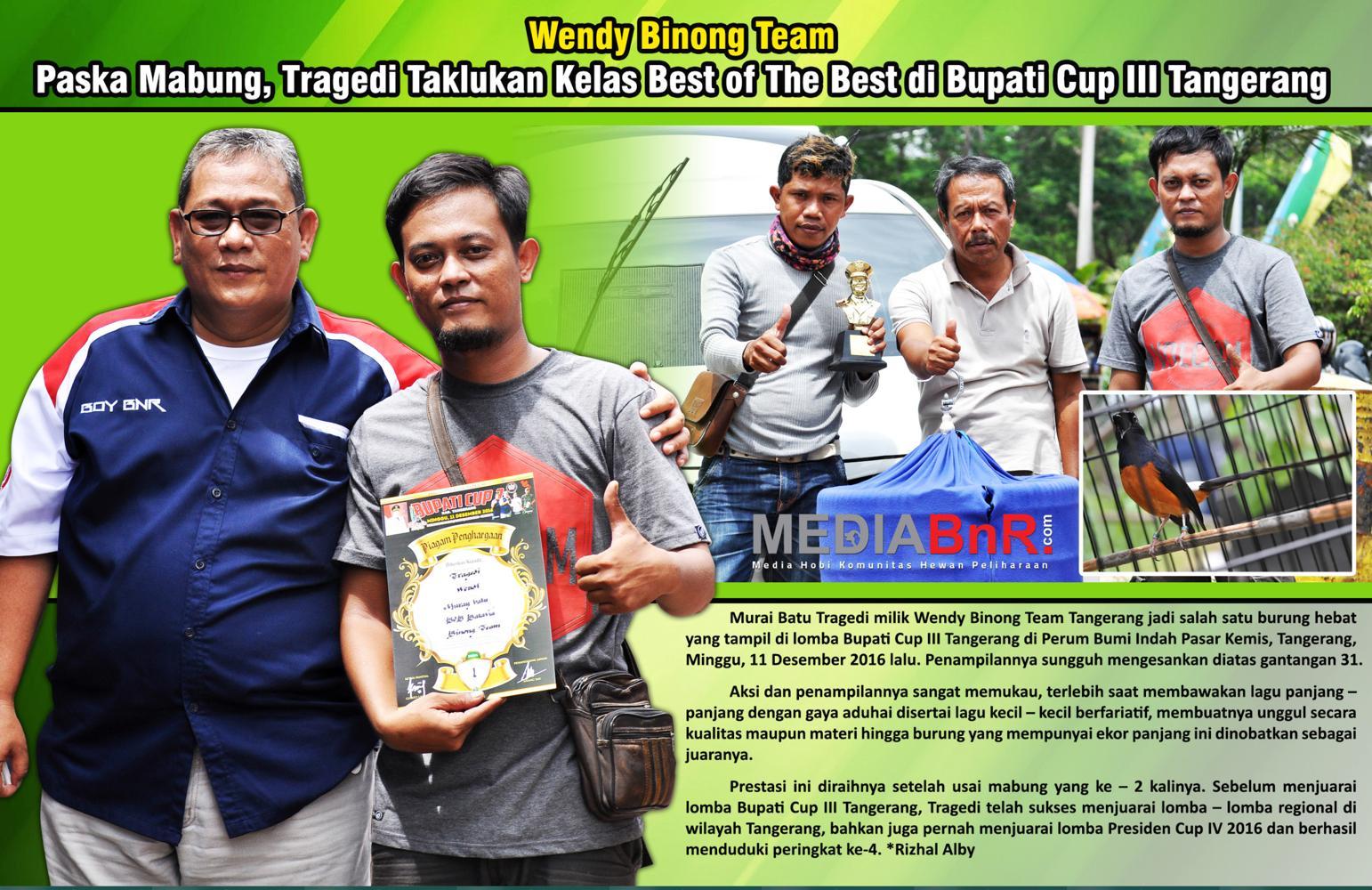 Wendy Binong Team : Pasca Mabung, Tragedi Taklukan Kelas BOB di Bupati Cup 3 Tangerang