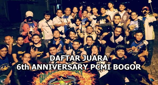Daftar Juara HUT PCMI Chapter Bogor ke-6 (29/10/2017)