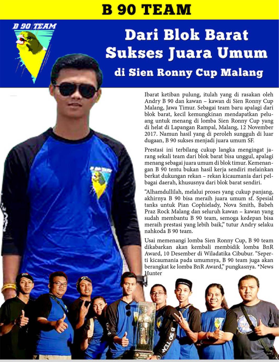 B 90 Team : Dari Blok Barat Sukses Juara Umum di Sien Ronny Cup – Malang