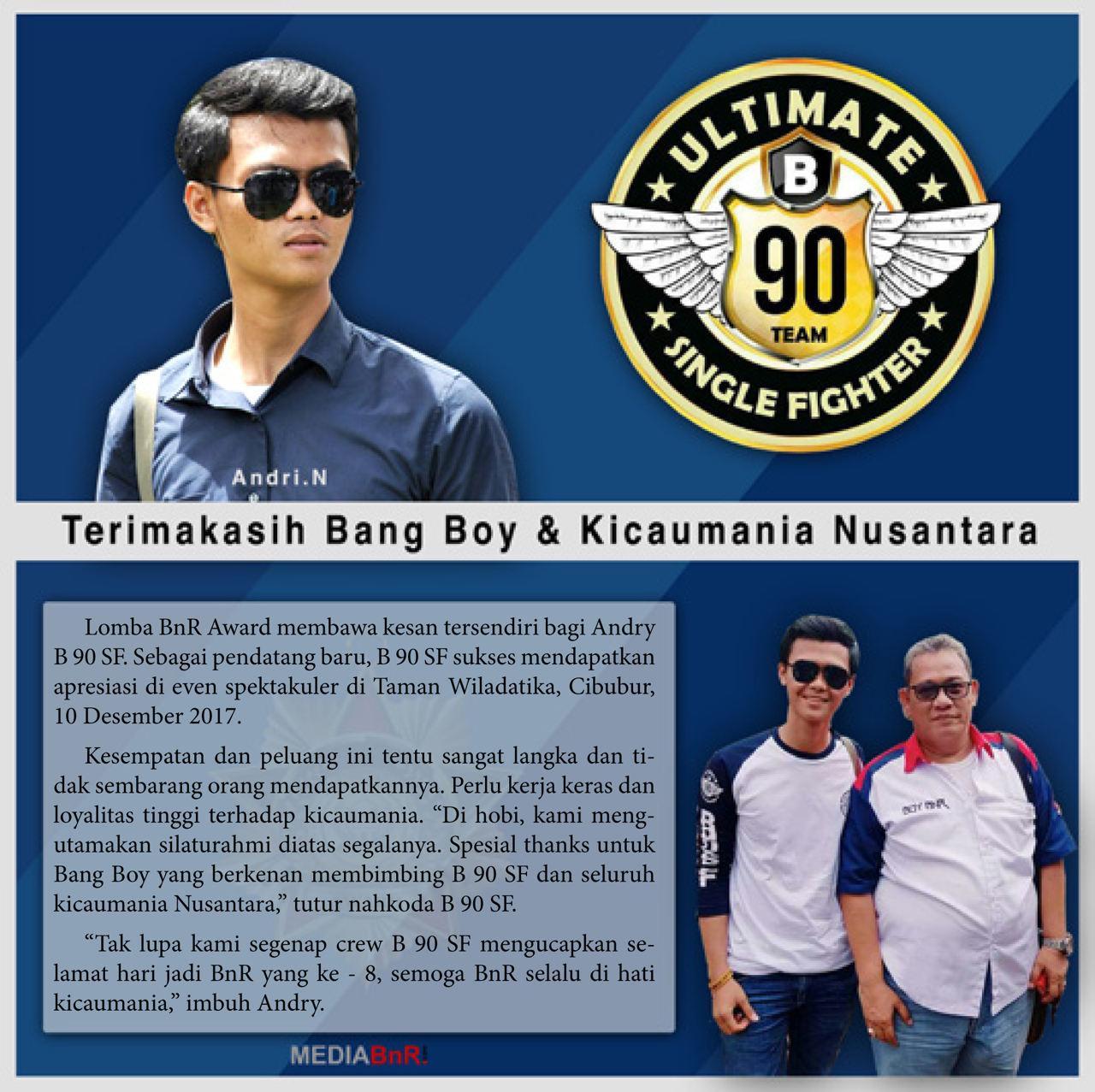 Andry N : Terima Kasih Bang Boy dan Kicaumania Nusantara
