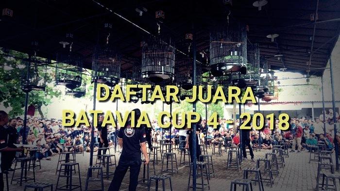 Daftar Juara BnR Batavia Cup 4 – 2018