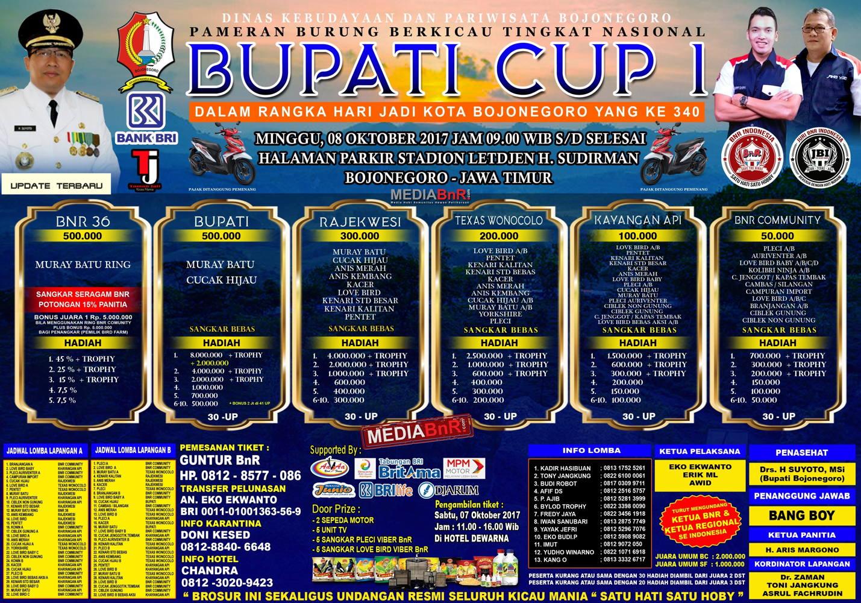 brosur BUPATI CUP 1 bojonegoro OKTOBER