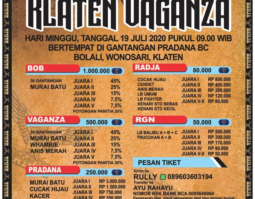 Brosur Dan Jadwal Lomba Klaten Vaganza