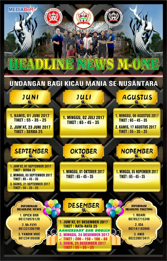 Agenda BnR Koblen Surabaya 2017