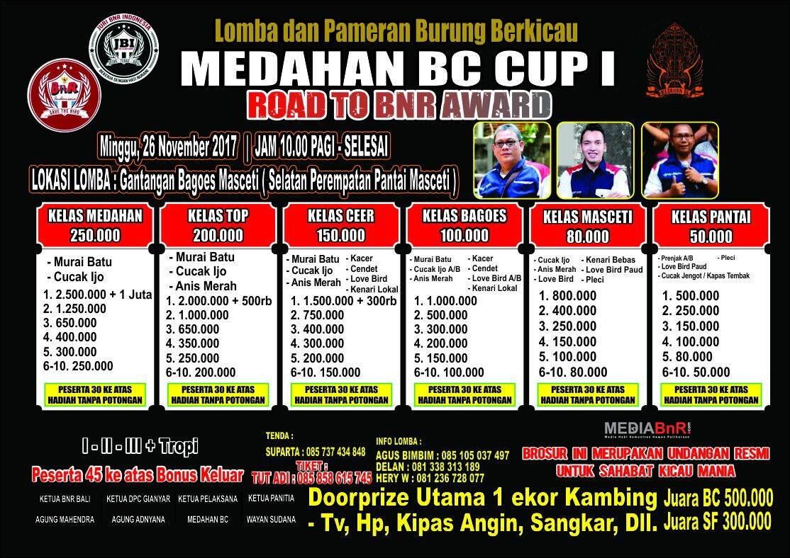 brosur MEDAHAN BC CUP 1 road to BnR Award