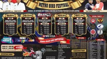 brosur Metro Bird Festival