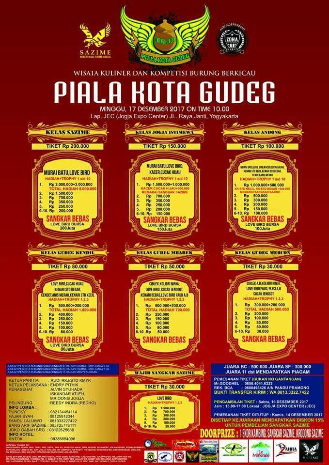 brosur Piala kota Gudeg