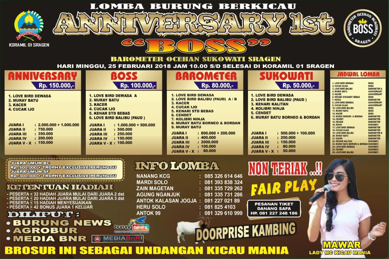 brosur anniversary 1st boss