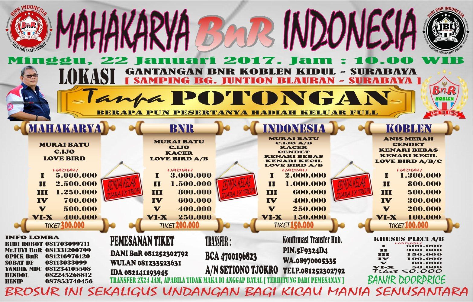 brosur bnr mahakarya indonesia, mediabnr, bnr community, surabaya,