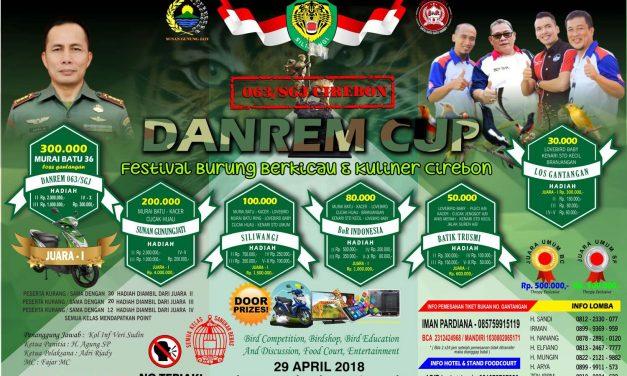 Danrem 063/SGJ Cup Cirebon – Sediakan 2 Unit Sepeda Motor Untuk Hadiah & Doorprize