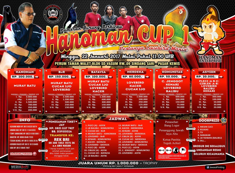 brosur lomba burung berkicau Hanoman Cup 1