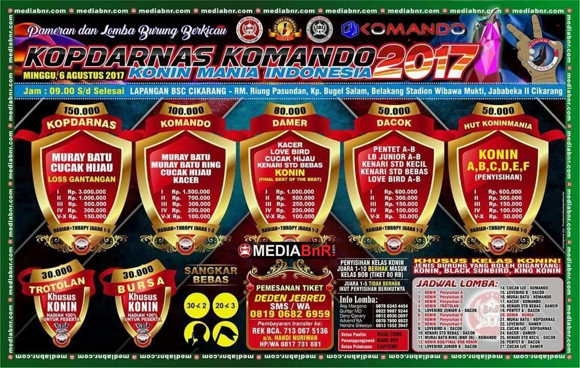 Kopdarnas Konin Mania Indonesia 6 Agustus 2017 di BSC Cikarang