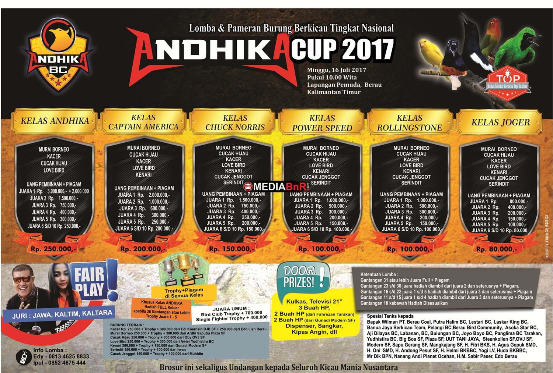 brosur lomba burung kicau andhika cup 2017