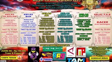 brosur lomba burung kicau road to bnr award bangka
