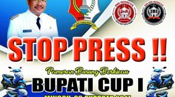 brosur lomba burung kicauSTOP PRESS BUPATI CUP  bojonegoro
