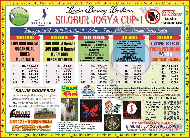 brosur lomba burung silobur jogya cup 1