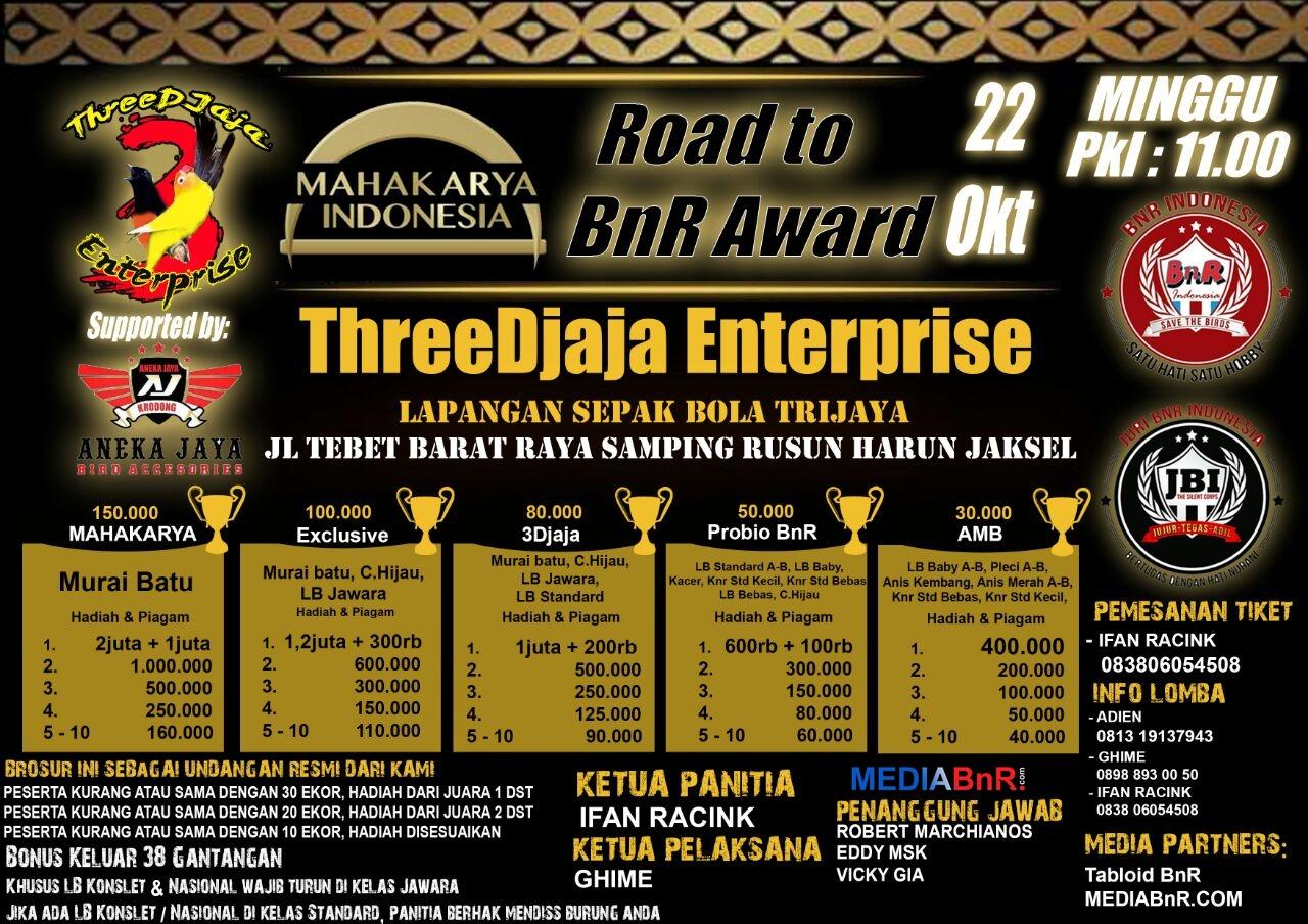 brosur lomba road to bnr award threedjaja enterprise