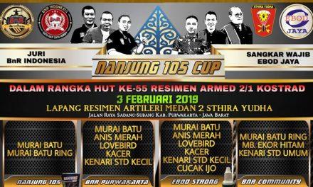 31 Januari 2019, Pesanan Tiket NANJUNG 105 Cup Ditutup