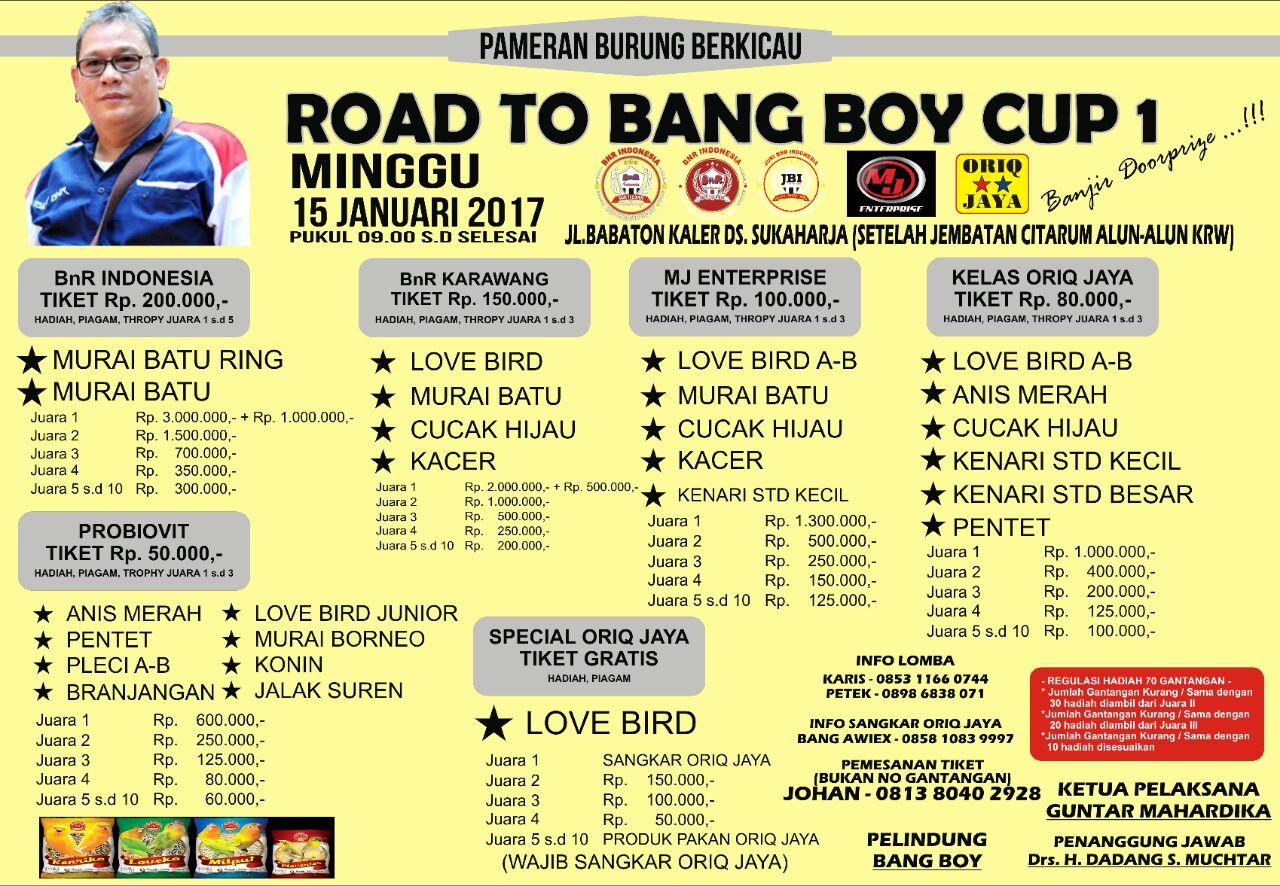 brosur road to bang boy cup karawang