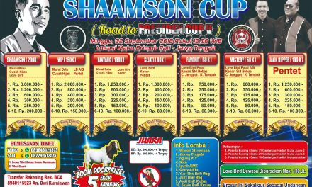 Shaamson Cup Pati Bersama BnR – Road To Presiden Cup V 2018