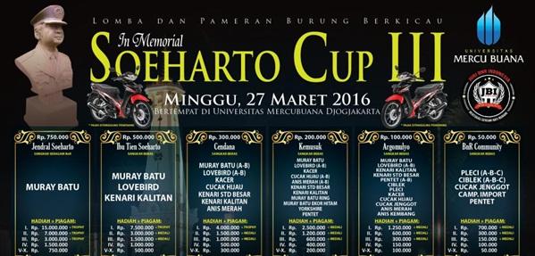 Soeharto Cup Gelaran Tahunan BnR di Djogja