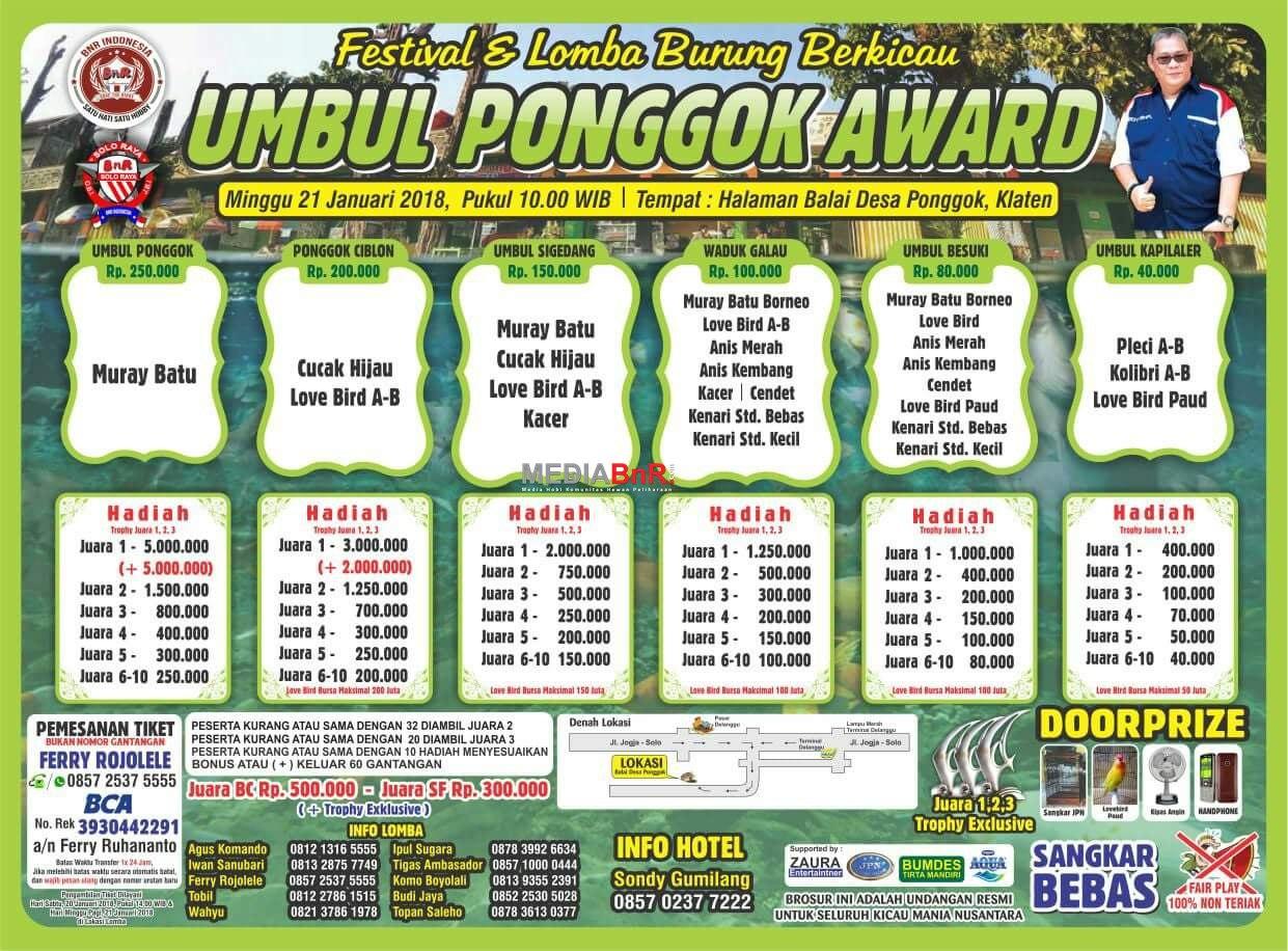brosur unggul ponggok award klaten