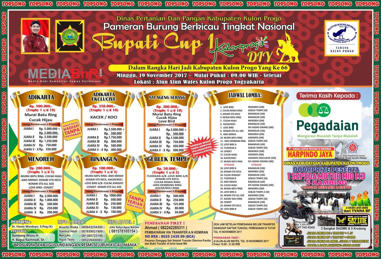 brosurBupati Cup Kulonprogo Yogyakarta