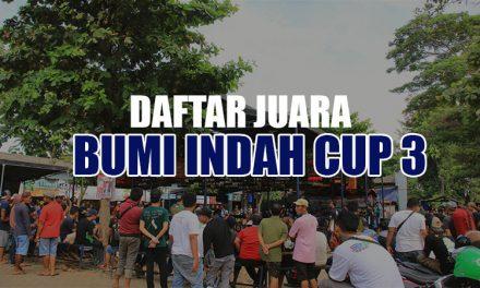 Daftar Juara Bumi Indah Cup 3 – Batavia (17/2/2019)