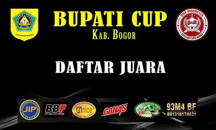 Daftar Juara Bupati Cup Kab. Bogor 2018