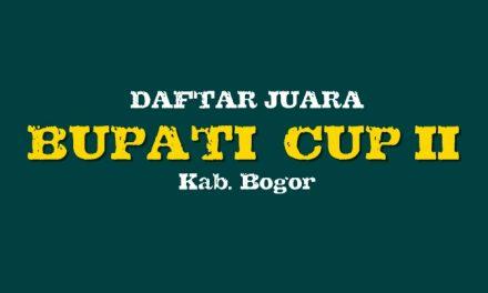 Daftar Juara Bupati Cup II, Bogor 2019