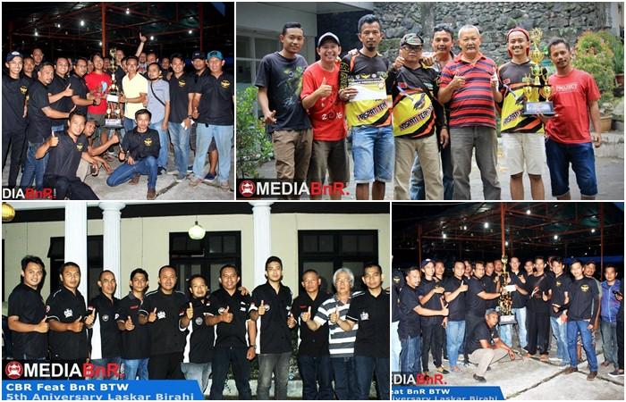 CBR Feat BnR BTW Sukses Gelar 5th Anniversary Laskar Birahi, Raja Gosip Raih Double Winner
