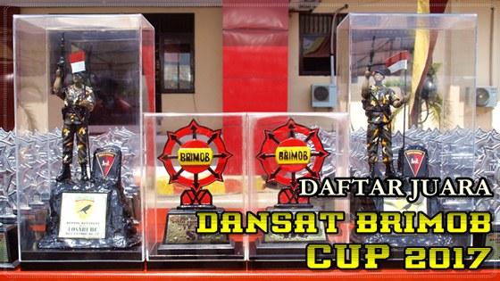 Daftar Juara DANSAT BRIMOB CUP 2017 Makassar (29/10/2017)