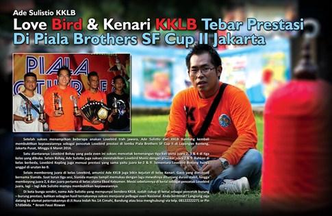 Love Bird & Kenari KKLB Tebar Prestasi di Piala Brothers SF Cup II Jakarta