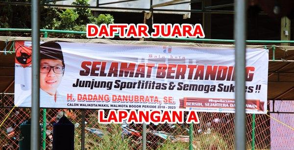 Daftar Juara Piala H. Dadang Danurbrata, SE, Cup II – LAP. A