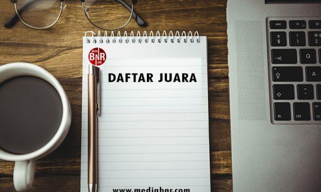 Daftar Juara Latber Kamis Kubu Raya – Kalbar (18/7/2019)
